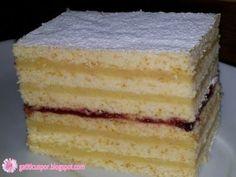 Prajitura cu foi si crema de gris, Rețetă Petitchef Romanian Desserts, Romanian Food, Romanian Recipes, Dessert Bread, Dessert Recipes, Sweets Cake, Pastry Cake, Yummy Cakes, Vanilla Cake