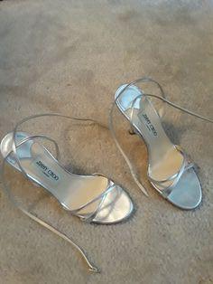silver Jimmy Choo heels strappy 38 sandals FA80wA