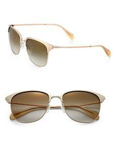 Oliver Peoples - Leiana 55mm Enameled Sunglasses
