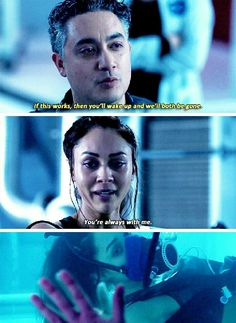 """#The100 4x11 """"The Other Side"""" - Raven and Sinclair"""