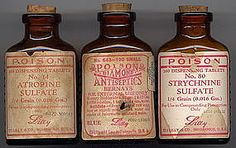 I find these antique poision bottles super inspiring.