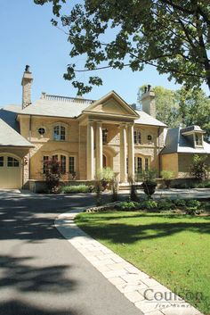 Neoclassic Architectural Style House by Coulson Fine Homes, Ontario in Canada - Neoclassical architecture emphasizes the wall of the structure, & maintains separate identities to each of its parts.