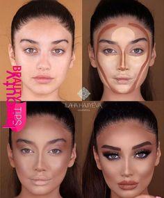 Konturtransformation – Tracie Kline-Dever – – - Make-Up Techniken Make Makeup, Makeup 101, Makeup Hacks, Makeup Goals, Makeup Inspo, Makeup Inspiration, Makeup Ideas, Makeup Products, Beauty Products