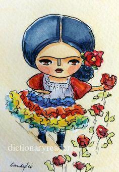 Frida Kahlo by Dictionary Reader