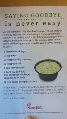 Chick-fil-a Coleslaw Recipe