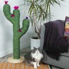 Fai da Te: realizzate uno splendido albero per gatti a forma di cactus (Tutorial)