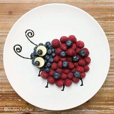 un plato divertido para los niños  #ladybug