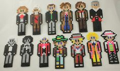 Doctor Who perler beads - All the Doctors by sparbowl