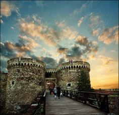 entrance of Kalemegdan a  historic old Belgrade city where the Serbs used to live during the Turkish era. Belgrade, Serbia