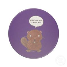 Angry Beaver Drink Coaster. $10.00