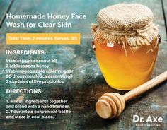 Homemade Honey Face Wash for Clear Skin