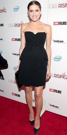 Look of the Day - March 7, 2013 - Allison Williams in Christian Dior from #InStyle