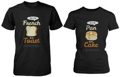 French Toast and Pancake Cute Couple Shirts His and Hers Funny Matchin