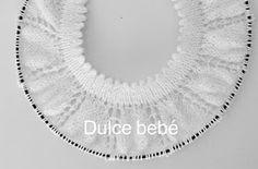 Lidy Dulce bebé. : Tutorial Canesú nº 1 Crochet Round, Crochet For Kids, Crochet Baby, Crotchet Patterns, Baby Knitting Patterns, Bind Off Knitting, Baby Boy Booties, Baby Candy, Baby Poncho