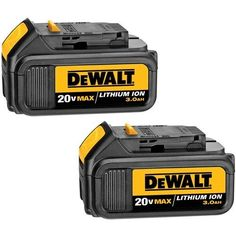 DeWalt 20 Volt MAX Lithium Ion Battery 2-Pack, >  20 Volt MAX Lithium Ion Battery 2-Pack DeWalt DCB200-2 Features: Extended run-time battery provides long run-time& battery life No memory and virtually no self-discharge for maximum producti... Check more at http://farmgardensuperstore.com/product/dewalt-20-volt-max-lithium-ion-battery-2-pack/