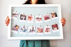 10 DIY Valentine's gift ideas | Polaroid picture frame