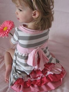 DIY Ruffle Dress- from old t-shirts