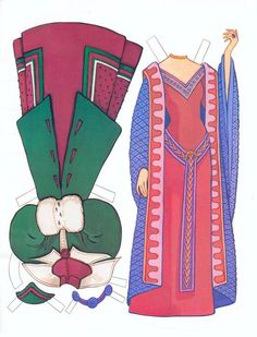 Beauty paper doll clothes