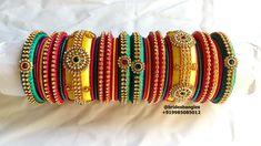 Silk Thread Bangles Design, Thread Jewellery, Handmade Jewelry, Photo And Video, Bracelets, Instagram, Handmade Jewellery, Jewellery Making, Diy Jewelry