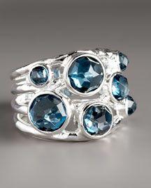 Y0LJY Ippolita London Blue Topaz Ring