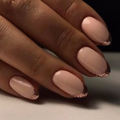 Beige dress nails, Elegant nails, Evening dress nails, Evening french manicure, Exquisite french manicure, French manicure news 2017, Gold french manicure, Great nails