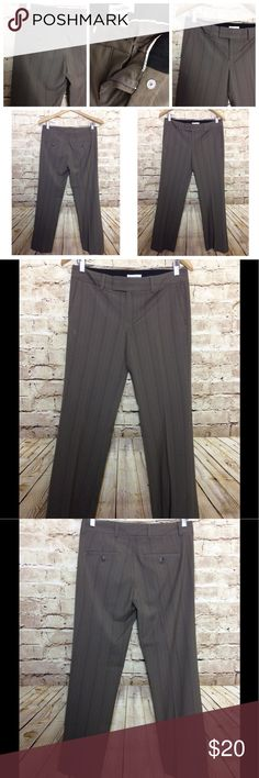 """Women Calvin Klein Dress Career Pants Brown Size 2 Like new condition  No flaws  Measurements  30"""" waist  29"""" inseam  37"""" outseam  8"""" rise 34"""" hip 18"""" leg opening calv Pants Trousers"""