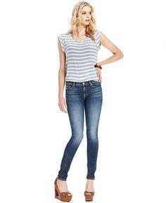 7 For All Mankind Jeans, Dark-Wash Skinny - Jeans - Women - Macy's
