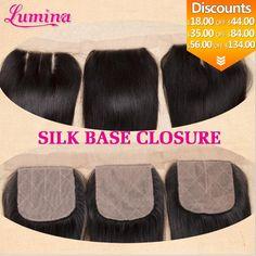 Cheap Virgin Brazilian Silk Base Closure Straight Free Middle 3 Part Closure Slik Base Closure Lumina Silk Lace Closure Lace Closure, Cool Hairstyles, Middle, Base, Silk, Hair Styles, Hair Products, Promotion, China