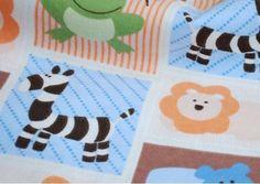 Cartoon Animals Cotton Coral Fabric Baby Fabric