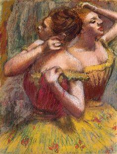 'Two Dancers' by Edgar Degas