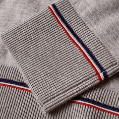 Moncler Tipped Crew Knit (Grey)