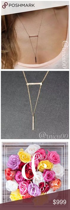 """🌟Coming Soon! Boho Pendant Minimalist Necklace! HOT 2017 Trend- Multi-Layered Minimalist, Boho, Sexy Style Necklace!   ✨Gold Plated ✨Lobster Clasp Closure, 2"""" Extender   *NO TRADES *Prices are FIRM-Listed at Lowest Price Unless BUNDLED! *Sales are Final-Please Read Descriptions! Boutique Jewelry Necklaces"""