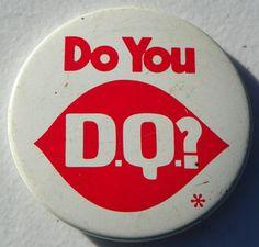 """Dairy Queen """"do You DQ"""" Metal Pinback Pin Button Badge"""