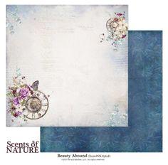 Papel 12×12″ modelo Beauty Abound de la colección Scents of Nature. 49 Market.