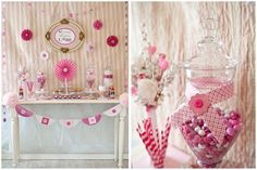 Sweet pink candy table