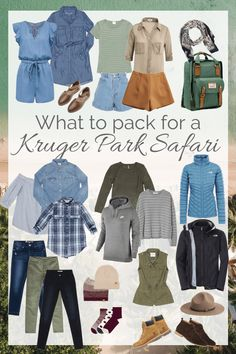 What To Pack For A Kruger Park Safari – Tails of a Mermaid Safari Outfit Women, Safari Outfits, Safari Clothes, Travel Outfits, Tanzania, Africa Safari Lodge, Safari Chic, Jungle Safari, Travel Clothes Women