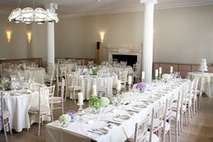 Wedding Breakfast and top table set at the RSA House, London