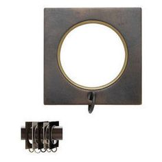"""Square ring with liner for 1 3/6"""" diameter Select Metal pole"""
