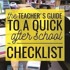 The Kindergarten Teacher's Guide to a Quick After School Checklist :: KindergartenWorks - smart idea