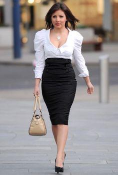 Nina Ricci Ruffle Pencil Skirt in Black ($625) ❤ liked on ...