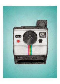 Items op Etsy die op Polaroid Memories - vintage camera illustration - a favorite things print lijken Cardboard Camera, Camera Illustration, Poster Fonts, Posters, Camera Drawing, Retro Camera, La Red, Photography Classes, Office Wall Art