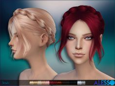 Braided updo for females  Found in TSR Category 'Sims 4 Female Hairstyles'