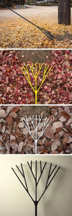 love this rake..i would use it for a tree inside..or get a couple of them..for a forest  : ( Romantic Rake #product_design #industrial_design