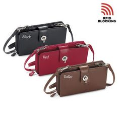 Genuine Leather RFID-Blocking Crossbody Organizer - Your Trusted Source for Travel Accessories and Gear