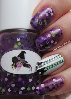 Adventures In Acetone: GIVEAWAY! The Nail Junkie Witch, Frankenstein, and Candy Corn Nail Art!