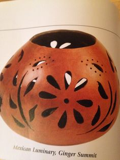 Gourd luminary - use drill and hobby knife