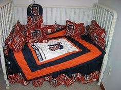 detroit tigers bedding | Crib Nursery Bedding Set Made w Detroit Tigers Fabric | eBay