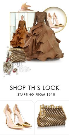 """""""Fall Ball"""" by the-house-of-kasin ❤ liked on Polyvore featuring Stephane Rolland, Gianvito Rossi, Dolce&Gabbana, Fall, autumn and gownsgalore"""