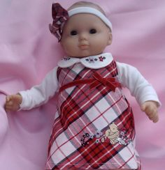 I OPENED MY ETSY STORE!!!    BITTY BABY GIRL Red & pink 4 pc Winter Penguin 15 by TheDollyDama, $15.00