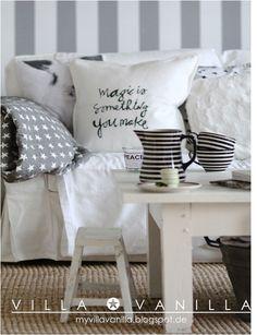 Villa Vanilla ✪: DIY: Negro y blanco Como hacer el almohadon con frase!